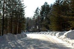 Winterstraße Lizenzfreie Stockfotos