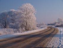 Winterstraße lizenzfreie stockfotografie