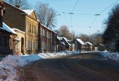 Winterstraße Lizenzfreies Stockbild