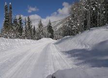 Winterstraße Stockbild