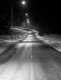 Winterstraße Stockfotografie