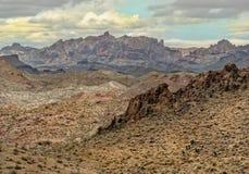 Wintersturm in den schwarzen Bergen, West-Arizona stockfotografie