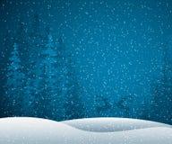 Winterszene stock abbildung