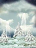 Winterszene vektor abbildung