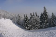 Winterszene stockfoto
