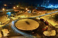 Winterszene in Bukarest lizenzfreie stockbilder