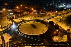 Winterszene in Bukarest stockbilder