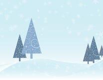 Winterszene Weihnachtskarte Stockbild