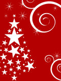 Winterszene - Weihnachtskarte Stockbild