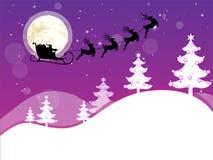 Winterszene - Weihnachtskarte stock abbildung