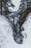 Wintertag auf den Felsen Lizenzfreie Stockfotos
