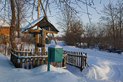 Wintertag in der Landschaft Lizenzfreie Stockbilder