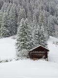 Wintertag im Bernese Oberland Stockbilder