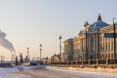 Wintertag in St Petersburg Stockfotografie