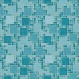 Wintertaling en Geel Vierkant de Tegelklopje van het Mozaïek Abstract Geometrische Ontwerp Royalty-vrije Stock Afbeeldingen