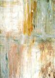 Wintertaling en Groen Abstract Art Painting Stock Afbeelding