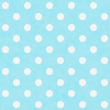Wintertaling en Witte Grote Polka Dots Pattern Repeat Background Royalty-vrije Stock Afbeeldingen
