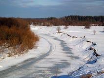 Winterteich Stockbild