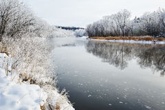 The wintertide river scenery Royalty Free Stock Photo