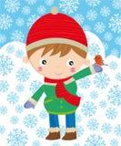 Wintertijd royalty-vrije illustratie