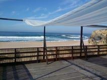 Wintertijd bij het strand Royalty-vrije Stock Afbeelding