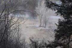 Wintertijd in het Vreedzame Noordwesten Royalty-vrije Stock Afbeelding