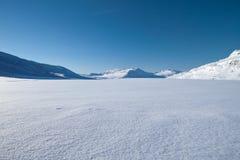 Wintertijd in Lapland - Zweden Royalty-vrije Stock Foto's