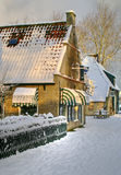 Wintertijd op Ameland Royalty-vrije Stock Afbeeldingen