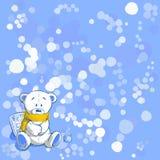 Wintertijd, vectorillustratie Stock Afbeelding