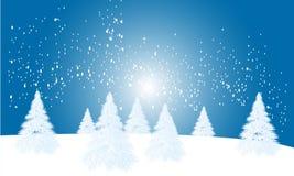 Wintertijdachtergrond Stock Fotografie