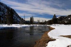 Wintertijdbeeld in het Nationale Park van Yellowstone Royalty-vrije Stock Afbeeldingen