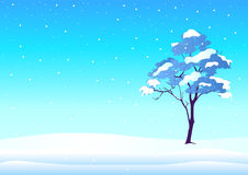 Wintertime. Illustration of a tree in wintertime Royalty Free Stock Images