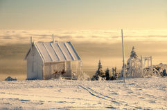 Wintertime. Serlich, Czech republic, early morning Stock Photos