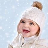 Wintertime baby fashion Royalty Free Stock Image