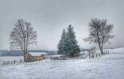 Wintertime. In Bavaria Royalty Free Stock Photos