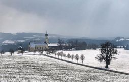 Wintertime. In Bavaria Royalty Free Stock Photo