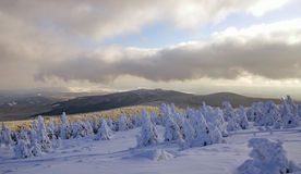 Wintertime on Brocken Mountain,Harz,Germany Stock Photo