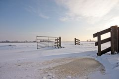 Wintertime in the countryside from Netherlands Royalty Free Stock Image
