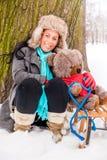 Wintertime landscape Stock Images