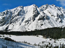 Wintertime in mountain tourist resort. Slovakia, High Tatras Royalty Free Stock Images