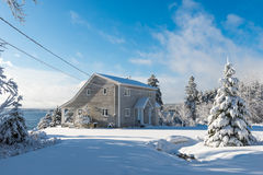 Wintertime in Nova Scotia Royalty Free Stock Images