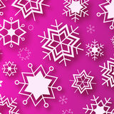 Wintertime - purple winter design Royalty Free Stock Image
