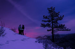 Wintertime romance royalty free stock images