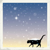 Wintertime. Seasonal holiday greetings. Vector illustration Royalty Free Stock Image