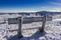 Wintertime and silence. At the Fichtel mountain Royalty Free Stock Images