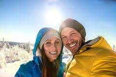 Wintertime snow travel Royalty Free Stock Photos