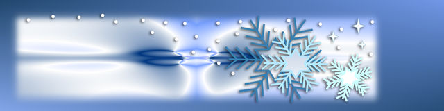 Wintertime and snowflakes Stock Images