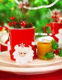 Wintertime table setting Royalty Free Stock Photography