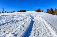 Wintertime view on Mt. Rigi in Switzerland Royalty Free Stock Images