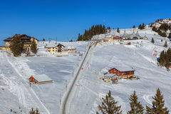 Wintertime view on Mt. Rigi in Switzerland Royalty Free Stock Image